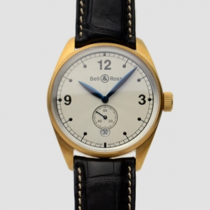 Bell & Ross 18 K Yellow Gold White Mens Wristwatch 40 MM