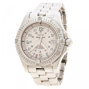 Breitling Beige Stainless Steel Colt A74380 Men's Wristwatch 41 mm