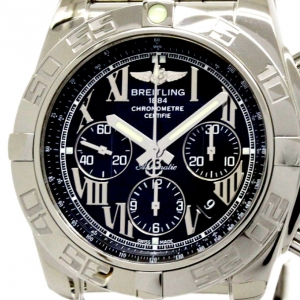 Breitling Navy Stainless Steel Chronomat Men's Wristwatch 44MM