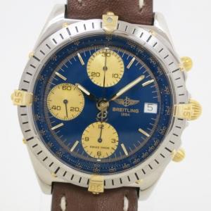 Breitling Chronomat SS YG Blue Mens Wristwatch
