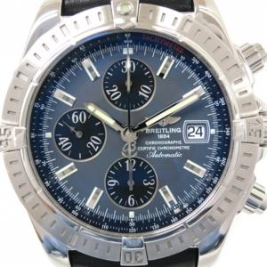 Breitling Chronomat Evolution SS Gray Mens Wristwatch