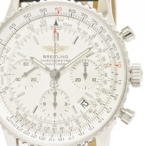 Breitling White Stainless Steel Navitimer Men's Wristwtch 42MM