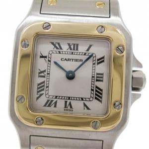 Cartier 18 K Yellow Gold & SS Galbee Womens Wristwatch 23 MM