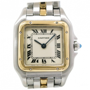 Cartier Panthere SS Ivory Gold 18K Ladies Wristwatch