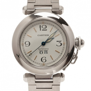 Cartier White Stainless Steel Pasha Women's Wristwatch 35MM