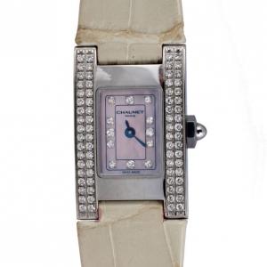 Chaumet Beige SS Diamond Classic Womens Wristwatch 20 MM