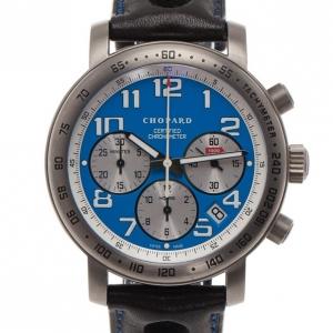 Chopard Blue Stainless Steel Mille Miglia Men's Wristwatch 40MM
