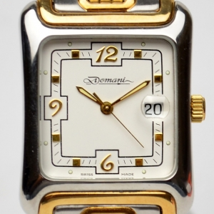 Christiano Domani SS 18K Gold Plated Unisex Wristwatch