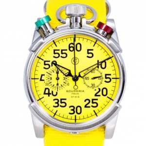 CT Scuderia Yellow Stainless Steel CS20110 Men's Wristwatch 46MM