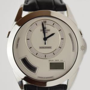 Erhard Junghans White Worldtimer Mens Wristwatch
