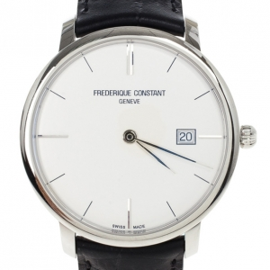 Frederique Constant White Stainless Steel Slimline Men's Wristwatch 40MM