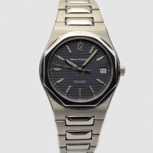 Girard Perregaux Laureato SS Black Mens Wristwatch 38 MM
