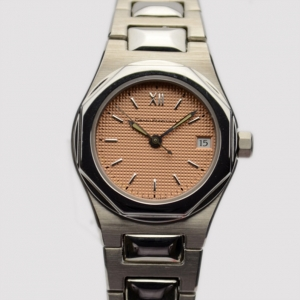 Girard Perregaux Peach Stainless Steel Laureato Ref.8000 Womens Wristwatch 26 MM