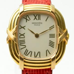 Hermes 18K Gold Ladies Wristwatch