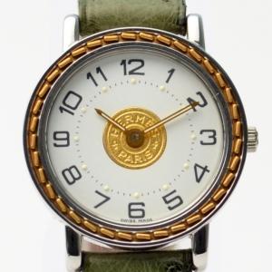 Hermes 18K Gold SS Ladies Wristwatch