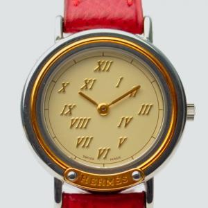Hermes Gold & Silver Ladies Wristwatch