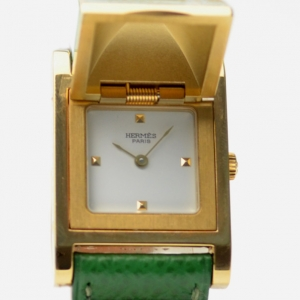 Hermes Gold Plated SS Ladies Wristwatch