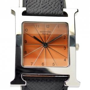Hermes Heure H SS Maroon Ladies Wristwatch