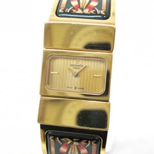 Hermes Loquet Wristwatch GP Gold Ladies