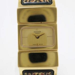Hermes Loquet GP Gold/Green Ladies Wristwatch