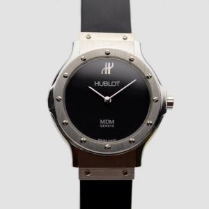Hublot Black SS Classic Womens Wristwatch 29 MM