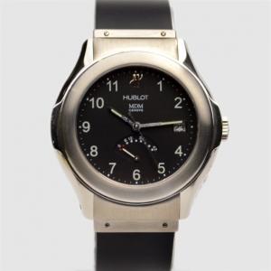 Hublot Black SS Rubber Reserve de Marche Womens Wristwatch 42 MM
