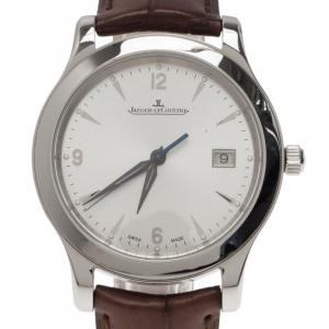 ساعة يد رجالي ياجر لي كولتر بيضاء فولاذ مقاوم للصدأ مجموعة ماستر 39 مم