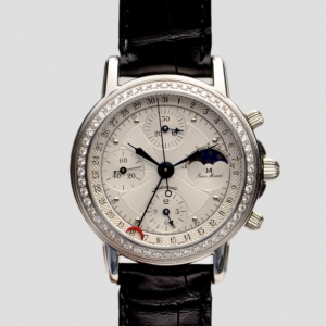 Jean Marcel White Diamond Chronograph C.I Mens Wristwatch 40 MM
