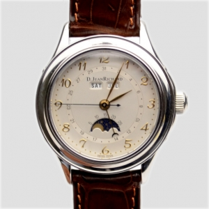 JeanRichard Moon Phase Display SS Mens Wristwatch 40 MM