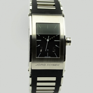 Jorg Hysek Black Stainless Steel Rubber Ladies Wristwatch 42 MM