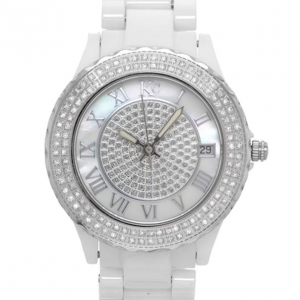 KC Diamond Silver Ceramic SS Ladies Wristwatch