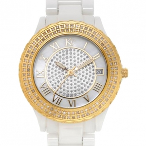 KC Diamond Gold Ceramic Ladies Wristwatch