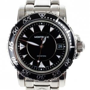 Montblanc Black Stainless Steel Sport XXL Automatic Steel Men's Wristwatch 38MM