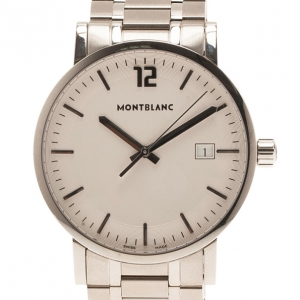 Montblanc White Stainless Steel Star Classique Date Men's Wristwatch 38MM
