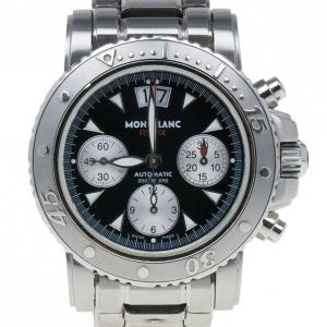 Montblanc Black Stainless Steel Sport XXL Men's Wristwatch 41MM