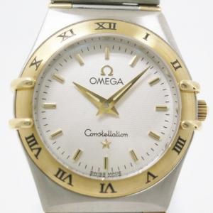 Omega Constellation 18 K Yellow Gold Steel Womens Wristwatch 24 MM