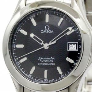 ساعة أوميغا سوداء سي ماستر الذكرى الخمسين ستانلس ستيل للرجالي 36 مم