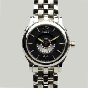 Perrelet Black Stainless Steel Double Rotor Ladies Wristwatch