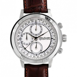 Quinting Chronograph Swiss Movement Mens Wristwatch