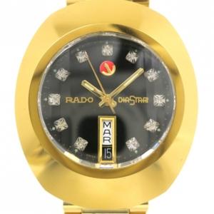 Rado Diastar Gold Plated SS Diamond Mens Wristwatch
