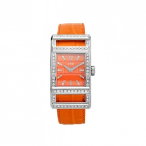 Rama Swiss Watch Swiss Movement Diamond Orange Ladies Watch