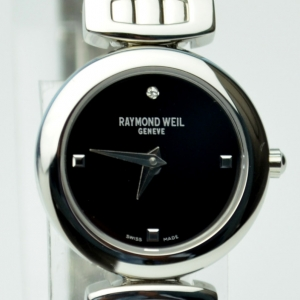 Raymond Weil SS Black Ladies Wristwatch