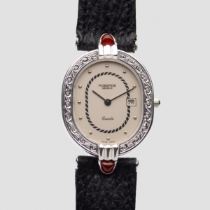 Robergé Andromede 18K White Gold/Leather Womens Wristwatch 33 MM