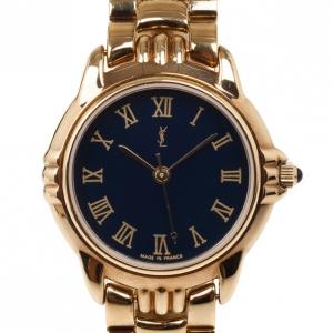 Yves Saint Laurent Gold Plated SS Womens Wristwatch 31 MM