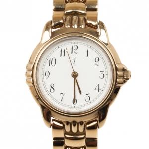 Yves Saint Laurent Gold Plated SS Womens Wristwatch 30 MM