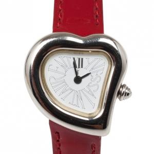 Saint Laurent Paris Heart SS Leather Womens Watch 26 MM
