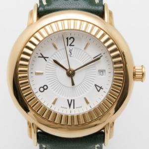 Yves Saint Laurent Gold Plated Herrenuhr Unisex Wristwatch