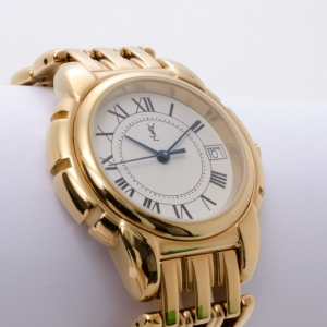 Yves Saint Laurent Gold Plated Swiss Made Unisex Watch