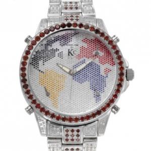 Techno Com Multicolor Diamond Mens Wristwatch