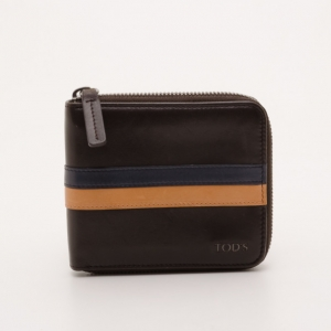 Tod's Navy Striped Wallet